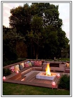 The best pictures and photos of fire pit ideas - patio fire pit fire . - ash blocks - ash blocksBest pictures Images and photos about fire pit ideas terrace fire pit fire cinder blocks Backyard Seating, Fire Pit Backyard, Backyard Patio, Backyard Landscaping, Backyard Ideas, Landscaping Ideas, Deck With Fire Pit, Landscaping Equipment, Florida Landscaping