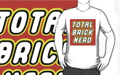 """""""TOTAL BRICK NERD by Customize My Minifig"""" T-Shirts & Hoodies by ChilleeW 
