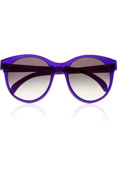 Illesteva|Mademoiselle round-frame acetate sunglasses|NET-A-PORTER.COM
