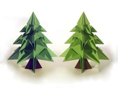 Christmas Origami Tree - Origami - How to make an origami tree