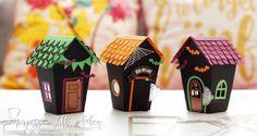 """Halloween-Projekt mit Thinlits Formen """"Zu Hause"""" und dem Stempelset """"Ein Haus für alle Fälle""""                                                                                                                                                                                 Mehr"""