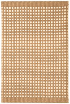 #DashandAlbert Tatami Toast Paper Rug. Get a bit of Japanese flair with this paper and cotton area rug, treated with a stain guard, and featuring a pattern of sand and ivory squares.