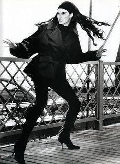 """Vogue Paris August 1989 """"Ca Cartoone"""" Model: Linda Evangelista Photographer: Max Vadukul"""