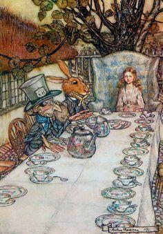 """The Tea Party"" by Arthur Rackham."