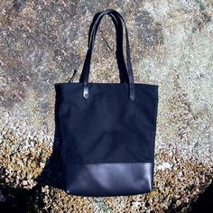 992ba99c03bb CIABATTA BAG Waxed Canvas and Leather Tote Bag by AWbyAndreaWong Waxed  Canvas