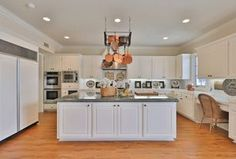 Traditional Kitchen with Distinctive 30 Inch Double Electric Wall Oven, All-Clad Copper Clad Cookware Set Kitchen Renovation Design, Kitchen Design, Kitchen Decor, Kitchen Ideas, Real Kitchen, Wall Ovens, Cookware Set, Traditional Kitchen, Home Kitchens