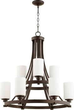 Lancaster 9 Light Chandelier Oiled Bronze