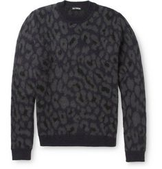 Raf Simons Leopard-Patterned Sweater