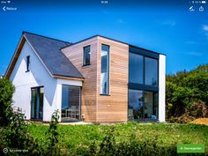 modern block in sloping roof - # block . - # block # roof modern block in sloping roof - - The Roof House Save Continues in Berlin Danish Sigurd Larsen is . House Extension Design, Roof Extension, Bungalow Extensions, House Extensions, Dormer Bungalow, Bungalow Renovation, Modern Roofing, Exterior Remodel, House Roof