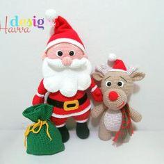 Santa Claus and Reindeer amigurumi pattern by Havva Designs