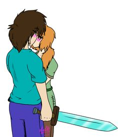 Minecraft Steve and Alex Kissing - Bing images Minecraft Ships, Minecraft Comics, Minecraft Anime, Anime Fnaf, Ship Art, Cultura Pop, Pokemon Cards, Best Games, Cute Pictures