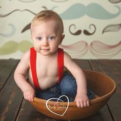 This little guy knows how to rock red suspenders!