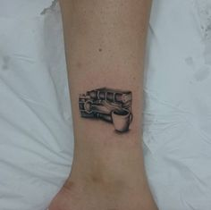 Book Tattoo on Ankle by Billy Oliveira