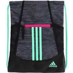 5d08e770c9 Adidas Alliance II Drawstring Backpack Shoes (Onix Green Magenta)   greendrawstringbackpack Adidas