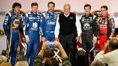 Chase Elliott, Dale Earnhardt, Jr., Jimmie Johnson, Rick Hendrick, Kasey Kahne, and Jeff Gordon, 2015
