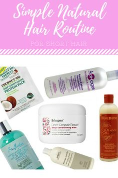 Simple Natural Hair Routine: For Short Hair Best Natural Hair Products, Natural Hair Care, Natural Skin, Natural Hair Styles, Short Hair Styles, Braided Hairstyles For Black Women Cornrows, Black Ponytail Hairstyles, Deep Conditioning