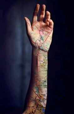 Roadmap  - 16 x wanderlust tattoos - Nieuws - Lifestyle