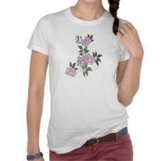 Delicate peonies elegant floral pattern shirts by YANKAdesigns