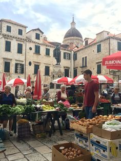 Dubrovnik's daily market is best early when the locals do their shopping