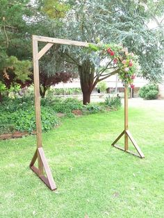 Our Handcrafted Timber Wedding Arch. It was made to be simple so you can customise it how you like!