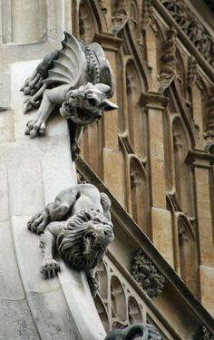Gargoyles of London  From the Houses of Parliament.