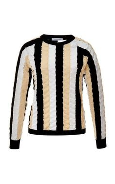 Paneled Striped Knit Top by J.w. Anderson Now Available on Moda Operandi
