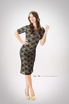 The Janae www.JUNIEblake.com. A modest black lace dress. Fall 2012 Collection. Did someone say perfect Holiday Outfit?