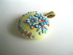 Polymer clay Pendant | por Magdalena Pavlovic