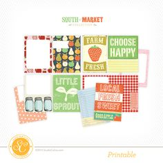 South of Market Free Printable Journal Cards at @studio_calico #freeprintable #freeprintables #projectlife