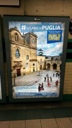 Love the posters promoting my region and my culture to the Londoners #pizzica #salento #weareinpuglia @sk13rs