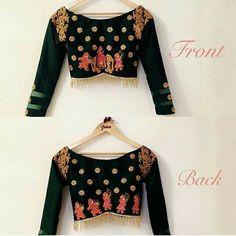 15 Fresh maggam work blouse designs of new season Pattu Saree Blouse Designs, Blouse Designs Silk, Blouse Patterns, Lehenga Blouse, Latest Maggam Work Blouses, Maggam Work Designs, Indian Blouse, Blouse Models, Beautiful Blouses