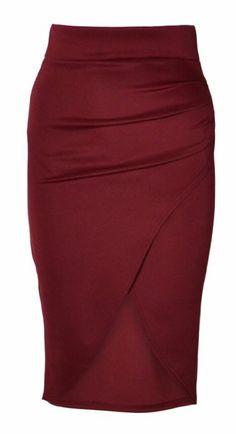 Amazon.com: Womens High Waisted Wrap Around Midi Skirt (Mtc) (10 (uk 14), White): Clothing