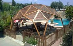 10 Best Pergola Designs, Ideas and Pictures of Pergolas – Top Soop Outdoor Spaces, Outdoor Living, Yurt Home, Geodesic Dome Homes, Dome Greenhouse, Casa Patio, Gazebo Pergola, Dome House, Round House