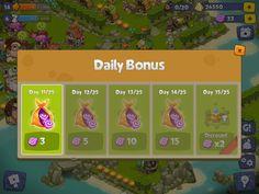Adventure Era | Daily Bonus | UI HUD User Interface Game Art GUI iOS Apps Games | www.girlvsgui.com