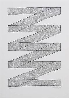 Jan Schoonhoven, Compositie, 1980, Drawing in ink.