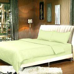Tache Home Fashion Duvet Cover Set Size: Full, Color: Light Green