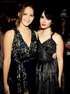 Jennifer Lawrence and Lilly Collins. Love them both