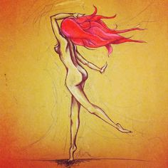 Art in celebration of red hair