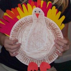 Preschool Crafts for Kids*: Thanksgiving Turkey Handprint Footprint Craft 2