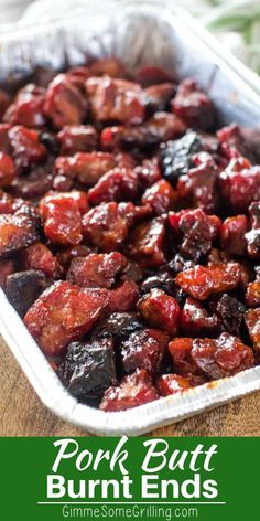 Make these Pork Burnt Ends on your electric smoker! The perfect appetizer or mai. Make these Pork Burnt Ends on your electric smoker! The perfect appetizer or main dish recipe for your Traeger! Traeger Recipes, Smoked Meat Recipes, Smoked Pork, Grilling Recipes, Grilling Tips, Pizza Recipes, Bbq Ribs, Pork Ribs, Pork Burnt Ends