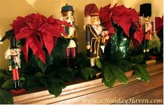 More decorating with nutcrackers.