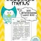 Need differentiated spelling lists for your students? Want to make weekly homework an easier task? Check out these homework menus from Autism Adventures! Over 200 menus included. Spelling Homework, Spelling Lists, Special Education Teacher, Differentiation, Autism, Kindergarten, Students, Menu, Country