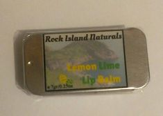 Lemon Lime Lip Balm Natural Organic from Rock Island Naturals by RockIslandNaturals on Etsy Organic Lip Balm, Natural Lip Balm, Organic Skin Care, Natural Skin Care, Natural Health, Rock Island, Lemon Lime, Customized Gifts, The Balm
