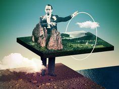 Magical Geographic - Julien Pacaud • Illustration • Perpendicular Dreams