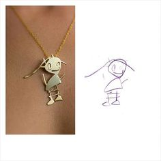 Turn your child's artwork into a custom piece of jewellery! Great gift for mom or Grandma, and a wonderful way to preserve a cherished piece of your child's art forever.