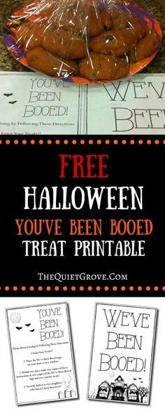 Free Halloween You've Been Booed Treat Printable (scheduled via http://www.tailwindapp.com?utm_source=pinterest&utm_medium=twpin&utm_content=post14364116&utm_campaign=scheduler_attribution)