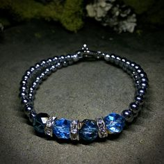Vibrant and Vivid Blue Crystal Hematite Beaded Bracelet New homemade jewelry brand that donates a percent of profits to animal charities or any animal in need of help. Facebook: www.facebook.com/DesignedByNouveau     Twitter: @Nouveau Collections Instagram: @NouveauCollections Etsy Shop: Presale starts Friday, April 10th! https://www.etsy.com/shop/NouveauYourself   ! Shop is up on Friday. Spread the word!