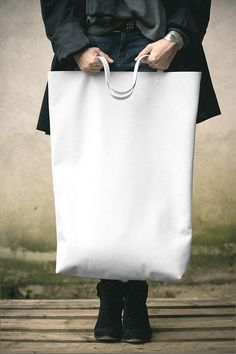 White Oversized Giant Tote Bag
