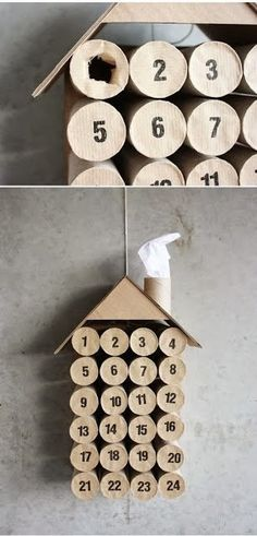 Toilet Paper Roll Crafts - Get creative! These toilet paper roll crafts are a great way to reuse these often forgotten paper products. You can use toilet paper rolls for anything! creative DIY toilet paper roll crafts are fun and easy to make. Advent Calenders, Diy Advent Calendar, Calendar Ideas, 2021 Calendar, Countdown Calendar, School Calendar, Christmas Calendar, Noel Christmas, Christmas Countdown