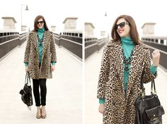 Jessica Quirk, What i Wore, What I Wore blog, Jessica Quirk Blog, What I Wore Jessica, Funny Face NARS, J.Crew, Vintage leopard coat, Vintage modern